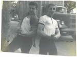 Musclemen Dave Schwartz and Mike Mersky