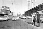 Downtown Flatbush Ave, in 1962, with Brickfords on the right  [Courtesy World Telegraph & Sun, and Library of Congress]
