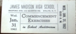 Your ticket to the January, 1962 Graduation.