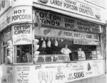 Get your popcorn and cotton candy on Coney Island's Boardwalk, 1964...[Courtesy WT&Sun, Library of Congress]